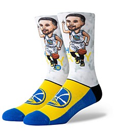 Big Boys Stephen Curry Golden State Warriors Big Head Crew Socks