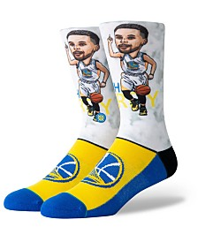 Stance Big Boys Stephen Curry Golden State Warriors Big Head Crew Socks