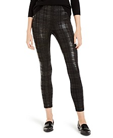 Plaid Sparkle Leggings, Created For Macy's