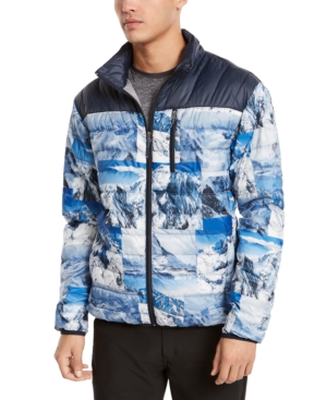 Hawke & Co. Outfitter Men's Packable Down Blend Puffer Jacket, Created For Macy's In Mountain Collage