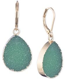 Gold-Tone Rock Crystal Drop Earrings