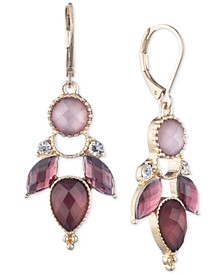 Gold-Tone Pavé & Stone Drop Earrings