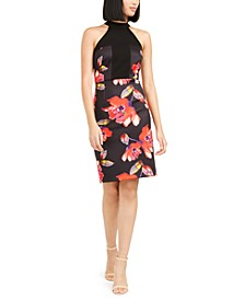 Kathleen Floral-Print Bodycon Dress