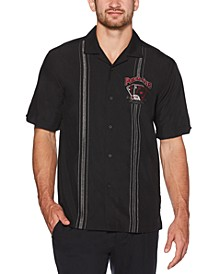 Men's Card King Regular-Fit Embroidered Shirt
