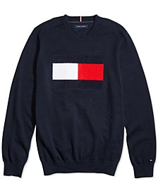 Men's Stan Flag Logo Sweater with Velcro® Closure at Shoulders