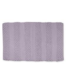"""BCBG Maxazria Loop Chenille Stripe 20"""" x 30"""" Bath Rug"""
