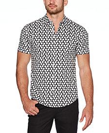 Cubavera Men's Big & Tall Regular-Fit Stretch Dice-Print Shirt