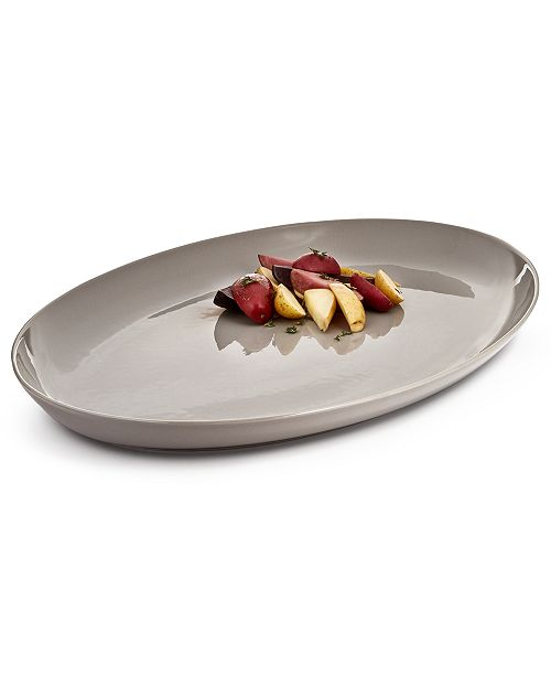 """Hotel Collection Modern 18"""" Stone Platter, Created For Macy's"""