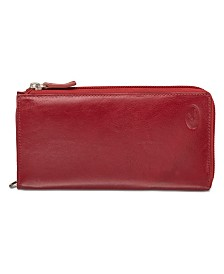 Mancini Equestrian-2 Collection RFID Secure Large Trifold Wallet