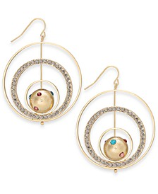 Gold-Tone Pavé Celestial Multi-Hoop Drop Earrings, Created For Macy's