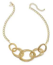 "Multi-Ring Statement Necklace, 22"" + 3"" extender, Created For Macy's"