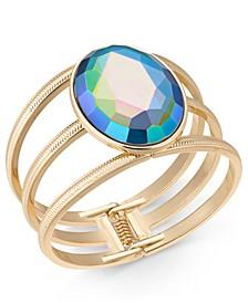Gold-Tone Stone Triple-Row Bangle Bracelet, Created For Macy's
