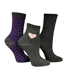 3 Pack Women's Funky Shimmer Socks Bundle by