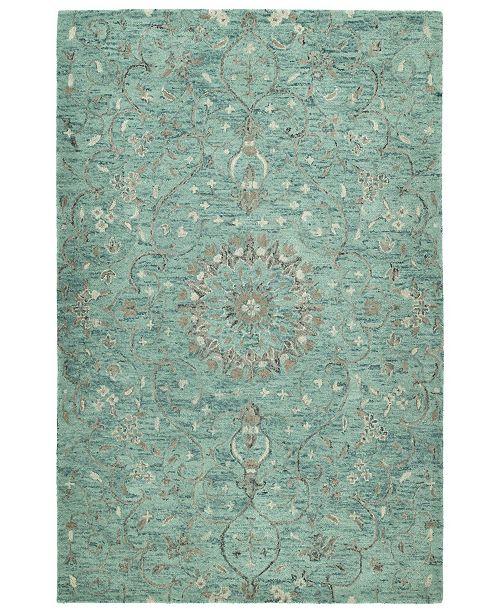 Kaleen Chancellor CHA01-78 Turquoise 4 'x 6' Area Rug