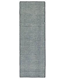 Ziggy ZIG01-22 Navy 2' x 6' Runner Rug