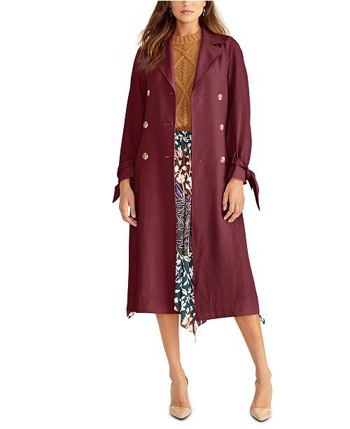 RACHEL Rachel Roy Tie-Sleeve Trench Coat