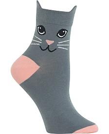 Hot Sox Women's Cat-Ears Anklet Socks