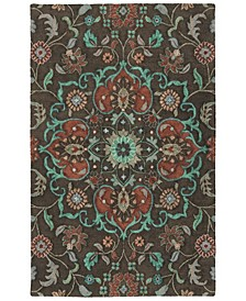 Zocalo ZOC04-40 Chocolate 2' x 3' Area Rug
