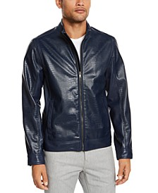 Men's Faux-Leather Jacket, Created For Macy's