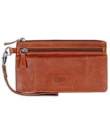 Casablanca Collection RFID Secure Wristlet Clutch Wallet