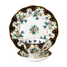 100 Years 1910 3-Piece Set,  Teacup Saucer & Plate -Duchess