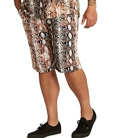 MVP Collections Men's Big & Tall Print Drawstring Shorts