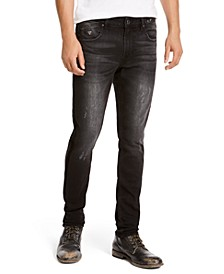 Men's Skinny-Fit Stretch Taped Destroyed Jeans