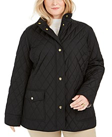 Plus Size Quilted Jacket, Created For Macy's