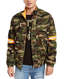 Men's Carter Camouflage Reflective Logo Jacket
