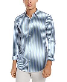 Men's Striped Stretch Cotton Shirt