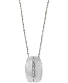 "EFFY® Diamond 18"" Pendant Necklace (1/20 ct. t.w.) in Sterling Silver"