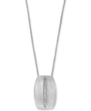 """Effy Diamond 18"""" Pendant Necklace (1/20 ct. t.w.) in Sterling Silver"""