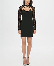 Lace Sweetheart Sheath Dress