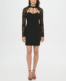 GUESS Lace Sweetheart Sheath Dress