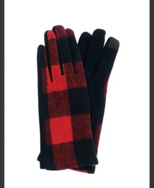 Women's Buffalo Plaid Jersey Touchscreen Glove
