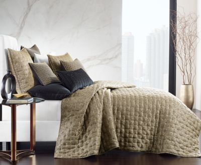 CLOSEOUT! Linear Chevron Full/Queen Coverlet, Created for Macy's