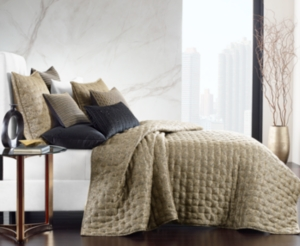 Closeout! Hotel Collection Linear Chevron Full/Queen Coverlet, Created for Macy's Bedding