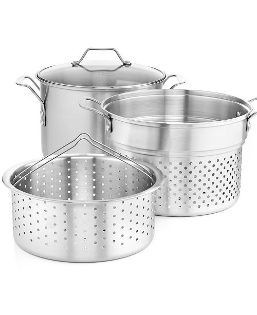 Calphalon Simply Stainless Steel 8 Qt Covered Multi Pot With