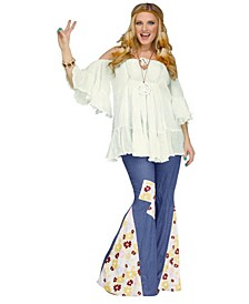 BuySeason Women's Hippie Gauze Top Costume