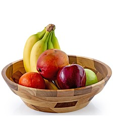 Casa Bellante Rubberwood Serving Bowl