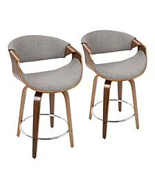 "Curvini 24"" Counter Stool, Quick Ship (Set of 2)"