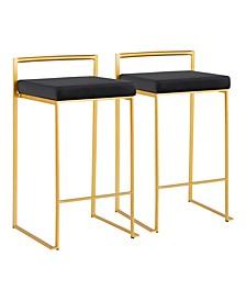 Fuji Gold Counter Stool, Set of 2