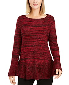 Bell Sleeve Marled Knit Sweater, Created for Macy's