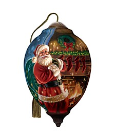 NeQwa ArtLimited Edition Twas The Night Before Christmas hand painted blown glass Christmas ornament