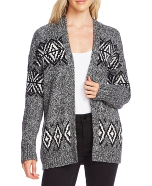 Vince Camuto Tops FAIR ISLE OPEN-FRONT CARDIGAN