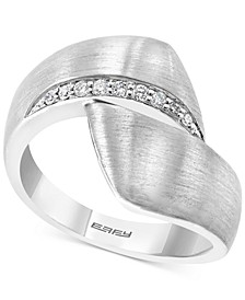 EFFY® Diamond Satin Finish Bypass Statement Ring (1/10 ct. t.w.) in Sterling Silver