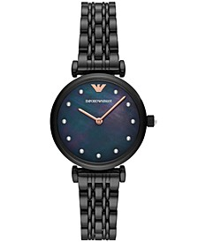 Women's Black Stainless Steel Bracelet Watch 32mm