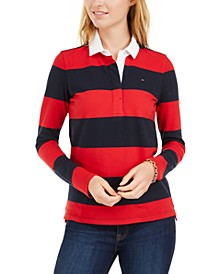 Striped Rugby Polo Shirt, Created for Macy's