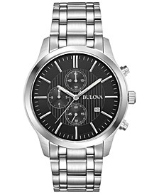 Men's Chronograph Sport Stainless Steel Bracelet Watch 43mm