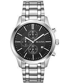 Bulova Men's Chronograph Sport Stainless Steel Bracelet Watch 43mm